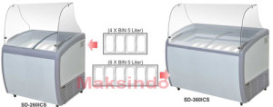 Mesin Ice Cream Scooping Cabinet 3