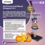 Jual Alat Pemeras Jeruk Manual Serbaguna 3 in 1 di Bali