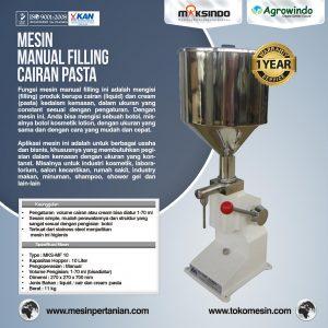 Jual Mesin Manual Filling Cairan-Pasta – MKS-MF10 di Bali