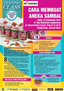 Training Usaha Aneka Sambal di Cengkareng, 24 September 2016