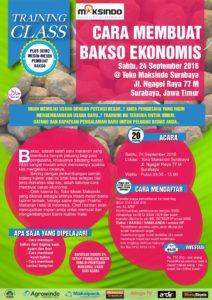 Training Usaha Bakso Ekonomis di Surabaya, 24 September 2016