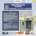 Jual Mesin Tetas Telur Industri 528 Butir (Industrial Incubator)di Bali
