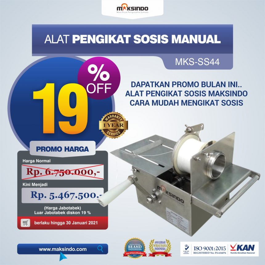 Jual Alat Pengikat Sosis Manual (MKS-SS44) di Bali