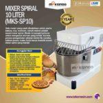 Jual Mixer Spiral 10 Liter (MKS-SP10) di Bali