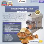 Jual Mixer Spiral 40 Liter (MKS-SP40) di Bali