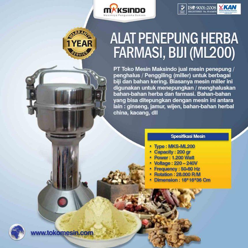 Jual Penepung Herba, Farmasi, Biji (ML200) di Bali