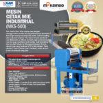 Jual Mesin Cetak Mie Industrial (MKS-500) di Bali