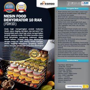 Jual Mesin Food Dehydrator 10 Rak (FDH10) di Bali