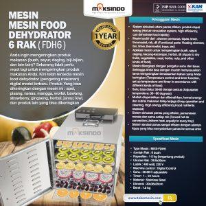 Jual Mesin Food Dehydrator 6 Rak (FDH6) di Bali