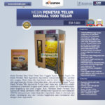 Jual Mesin Penetas Telur Manual 1000 Telur (EM-1000) di Bali