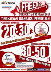 Promo FREE MESIN Bulan Maret 2017