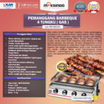 Jual Pemanggang BBQ Stainless (gas) 4 Tungku di Bali