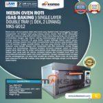 Jual Mesin Oven Gas 2 Loyang (MKS-GO12) di Bali