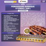 Jual Pemanggang BBQ (gas) 8 Tungku di Bali