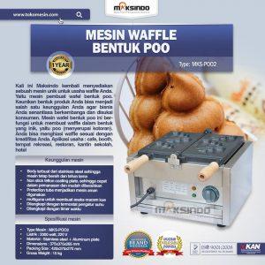 Jual Mesin Waffle Bentuk Poo (MKS-POO2) di Bali