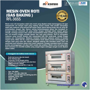 Jual Mesin Oven Roti Gas 6 Loyang (MKS-RS36) di Bali