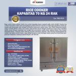 Jual Rice Cooker Kapasitas 70 Kg 24 Rak di Bali