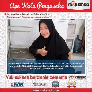 Pempek Ummaira's Kitchen : Produksi Pempek Saya Jadi Semakin Cepat dengan Vacuum Sealer Maksindo