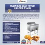 Jual Gas Deep Fryer 24 Liter 2 Tank (G74) Di Bali