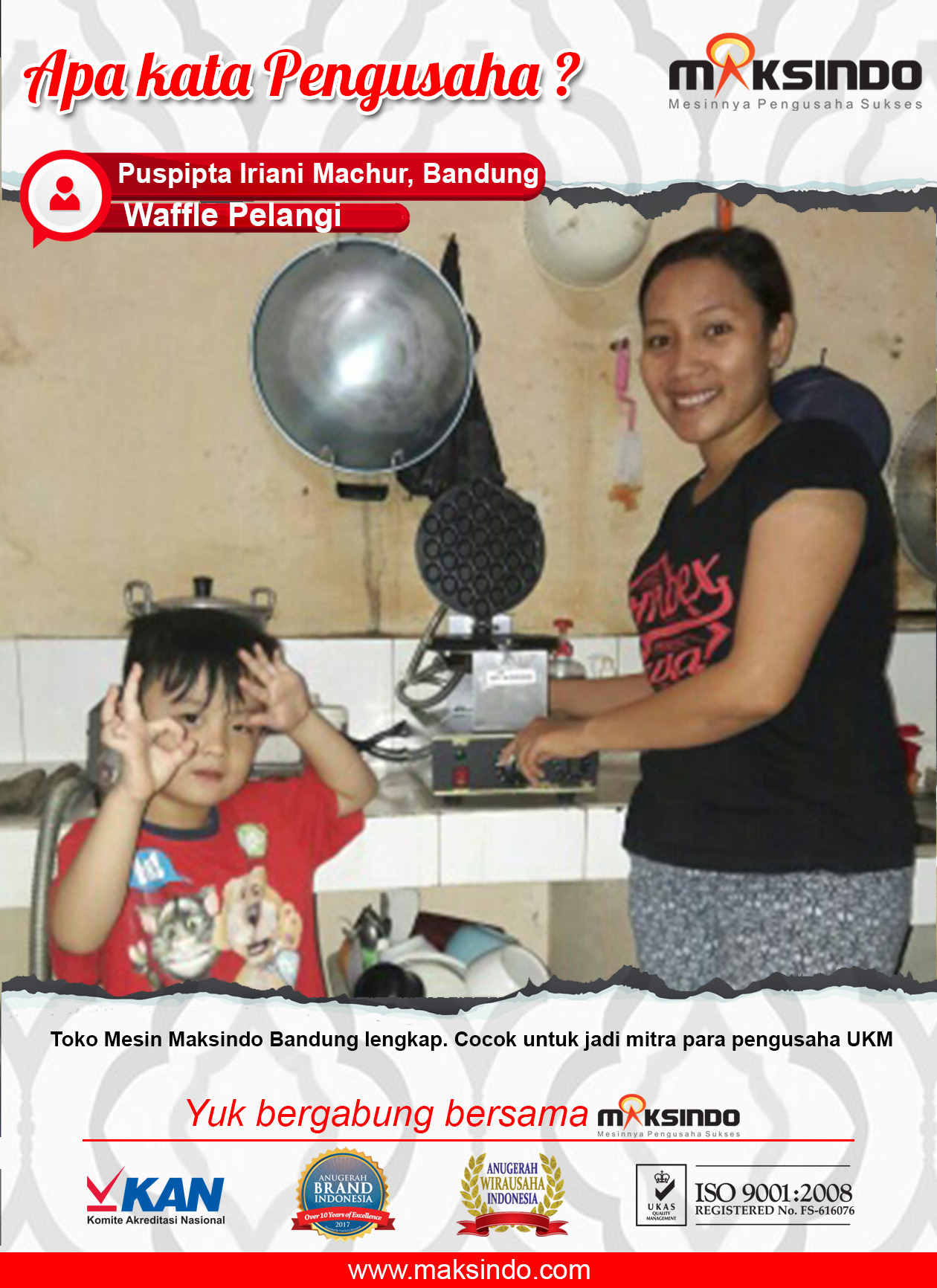 Waffle Pelangi : Dengan Mesin Egg Waffle Maksindo Usaha Saya Bertambah Maju