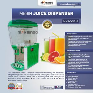 Jual Mesin Juice Dispenser MKS-DSP18 di Bali