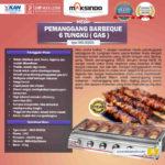 Jual Pemanggang BBQ Stainless (gas) 6 Tungku di Bali