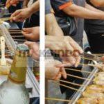 Jual Mesin Pemanggang Sate – BBQ 4 Tungku (Gas) di Bali