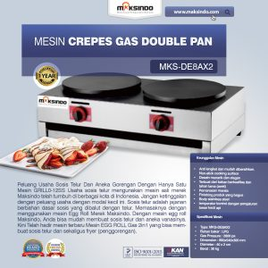 Jual Mesin Crepes Gas Double Pan (DE8Ax2) di Bali