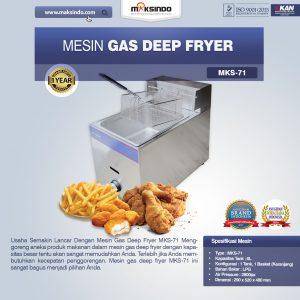 Jual Mesin Gas Deep Fryer MKS-71 di Bali