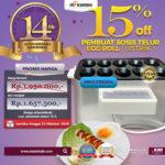Jual Mesin Pembuat Egg Roll (Listrik) di Bali