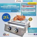 Jual Pemanggang Serbaguna Stainless Steel– Gas BBQ Grill 4 Tungku di Bali