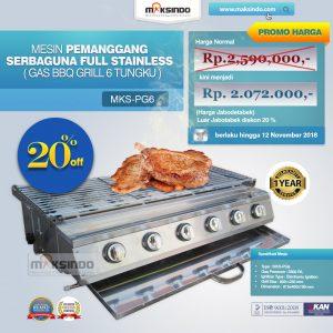 Jual Pemanggang Serbaguna – Gas BBQ Grill 6 Tungku di Bali