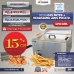 Jual Mesin Gas Fryer MKS-G20L + Keranjang Long Potato di Bali
