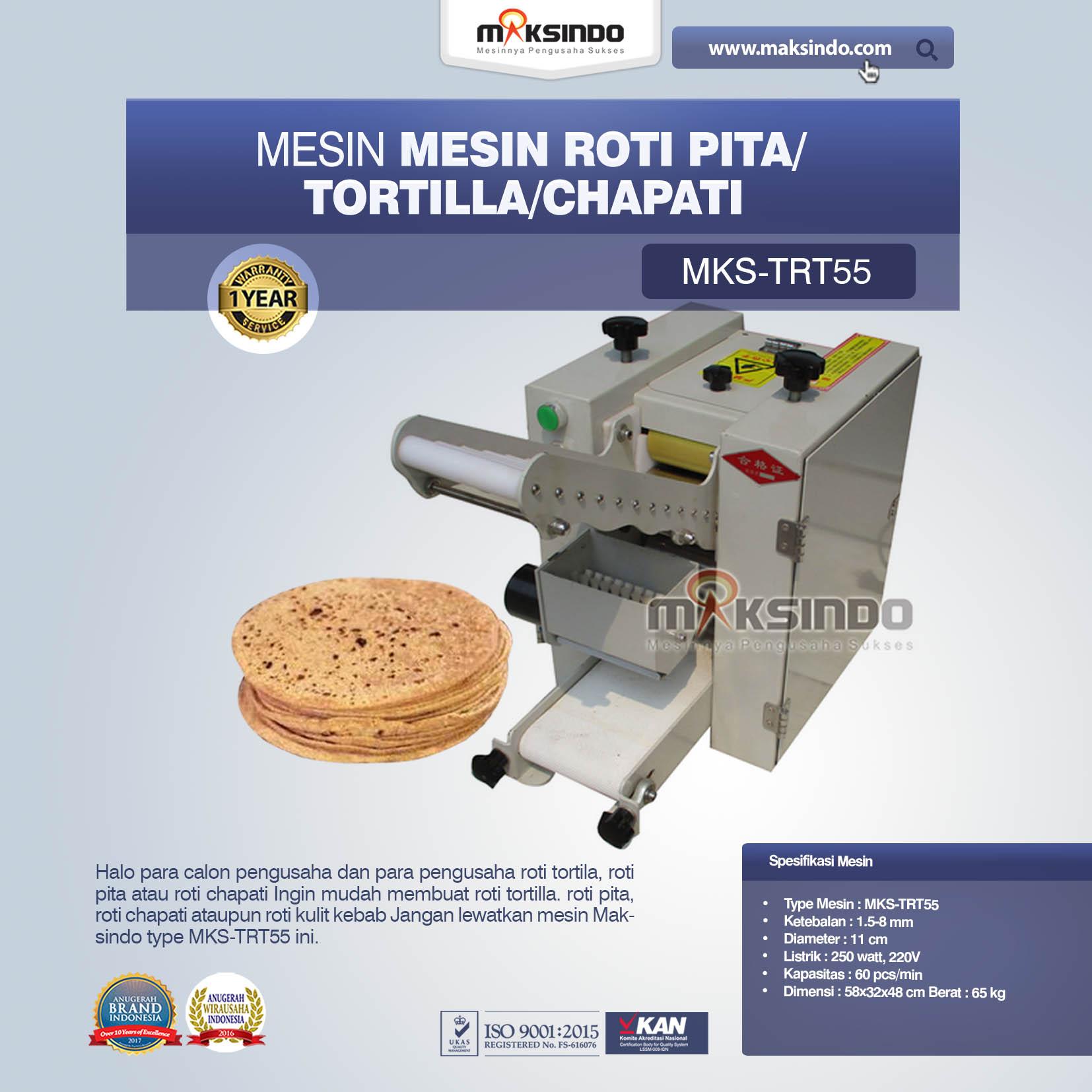 Jual Mesin Roti Pita/Tortilla/Chapati MKS-TRT55 Di Bali