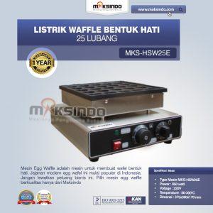 Jual Listrik Waffle Bentuk Hati 25 Lubang MKS-HSW25E di Bali
