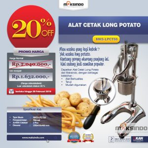 Jual Alat Cetak Long Potato MKS-LPCT50 di Bali