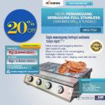 Jual Pemanggang Serbaguna – Gas BBQ Grill 4 Tungku Full Stainless di Denpasar