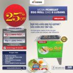 Jual Mesin Egg Roll Gas 6 Lubang GRILLO-GS6 di Bali