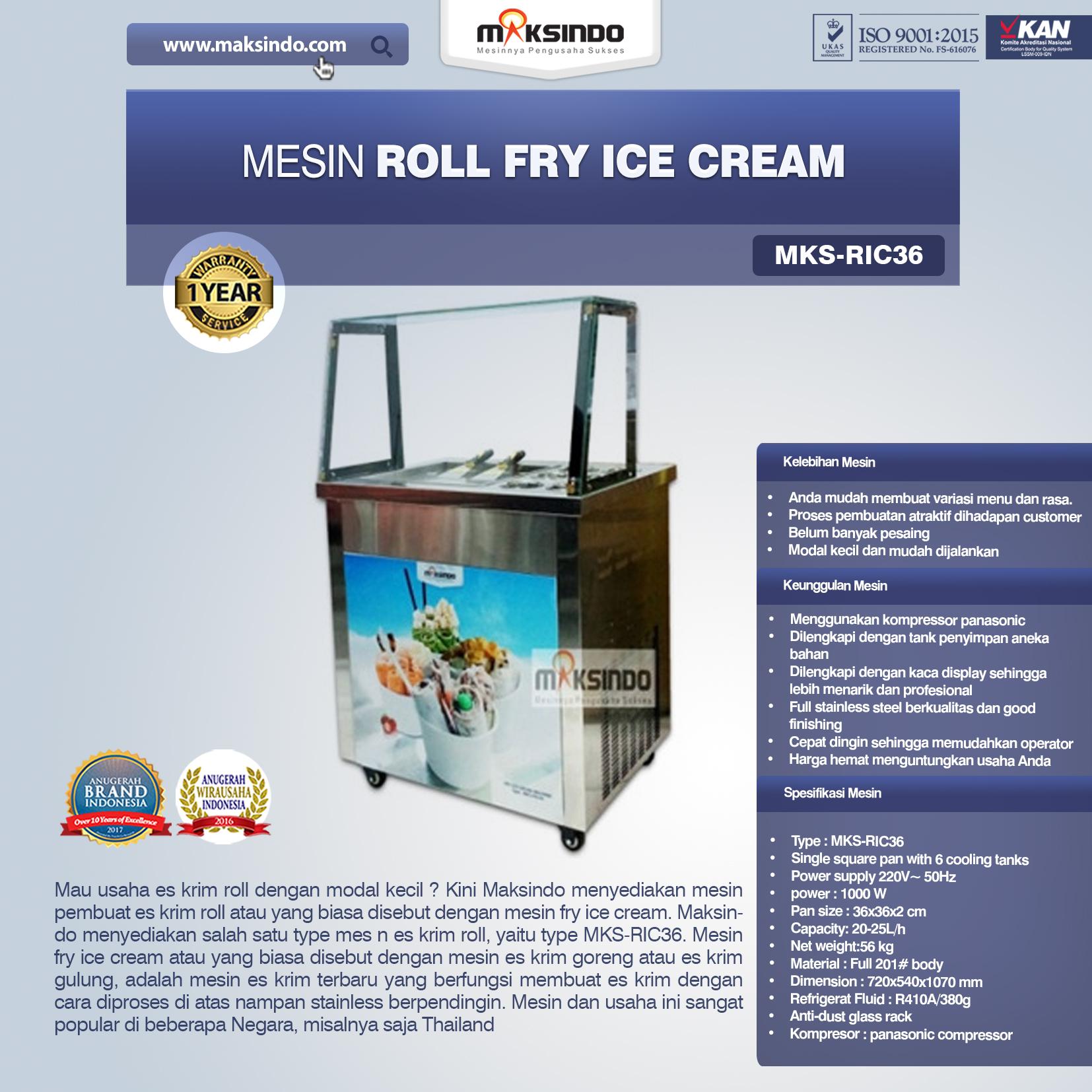 Jual Mesin Roll Fry Ice Cream (RIC36) di Bali