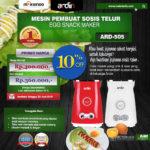 Jual Mesin Sosis Telur 2 Lubang ARDIN ARD-505 di Bali