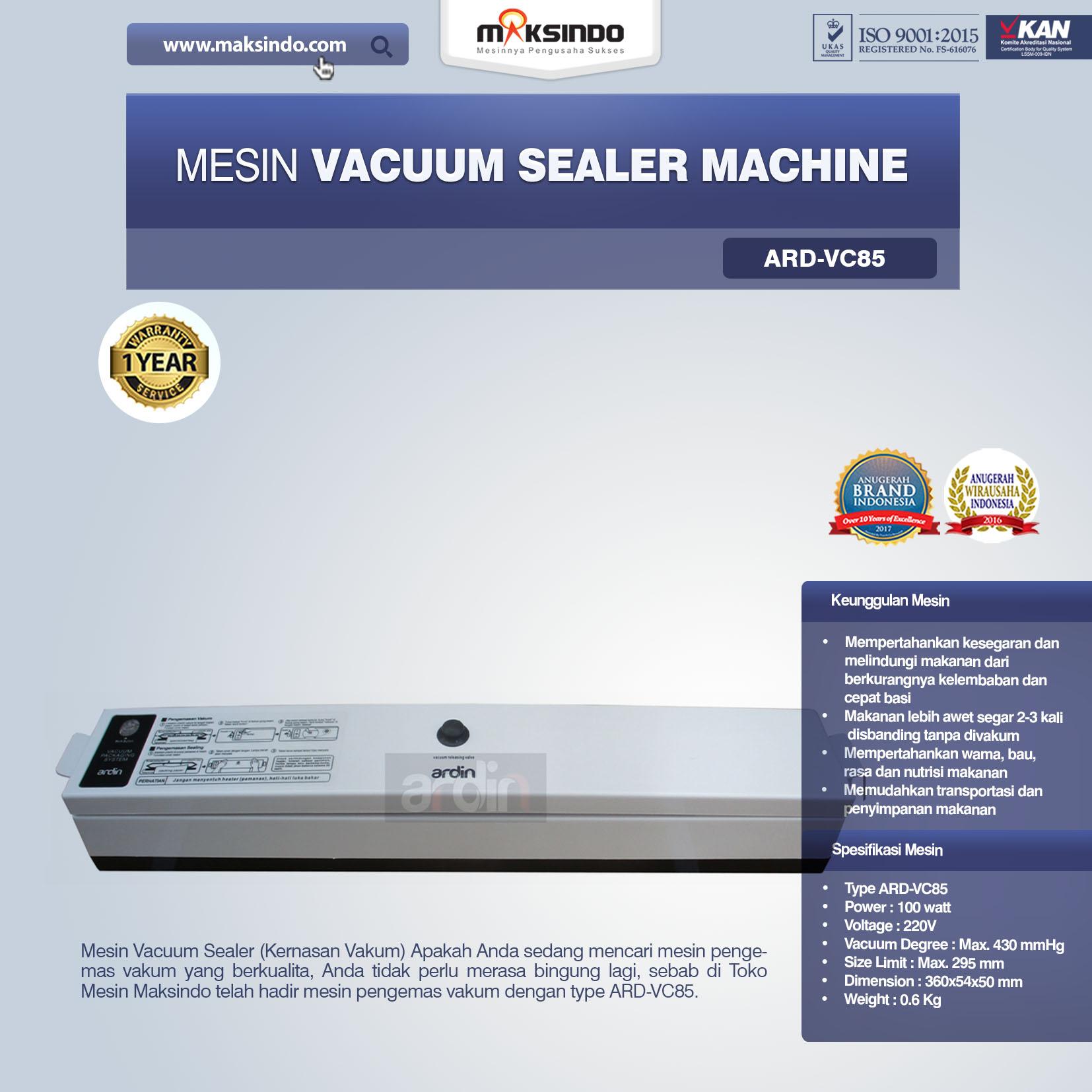 Jual Mesin Vacuum Sealer Machine ARD-VC85 di Bali