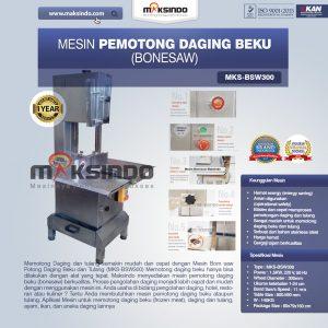 Jual Mesin Mesin Bonesaw Potong Daging Beku dan Tulang (MKS-BSW300) di Denpasar