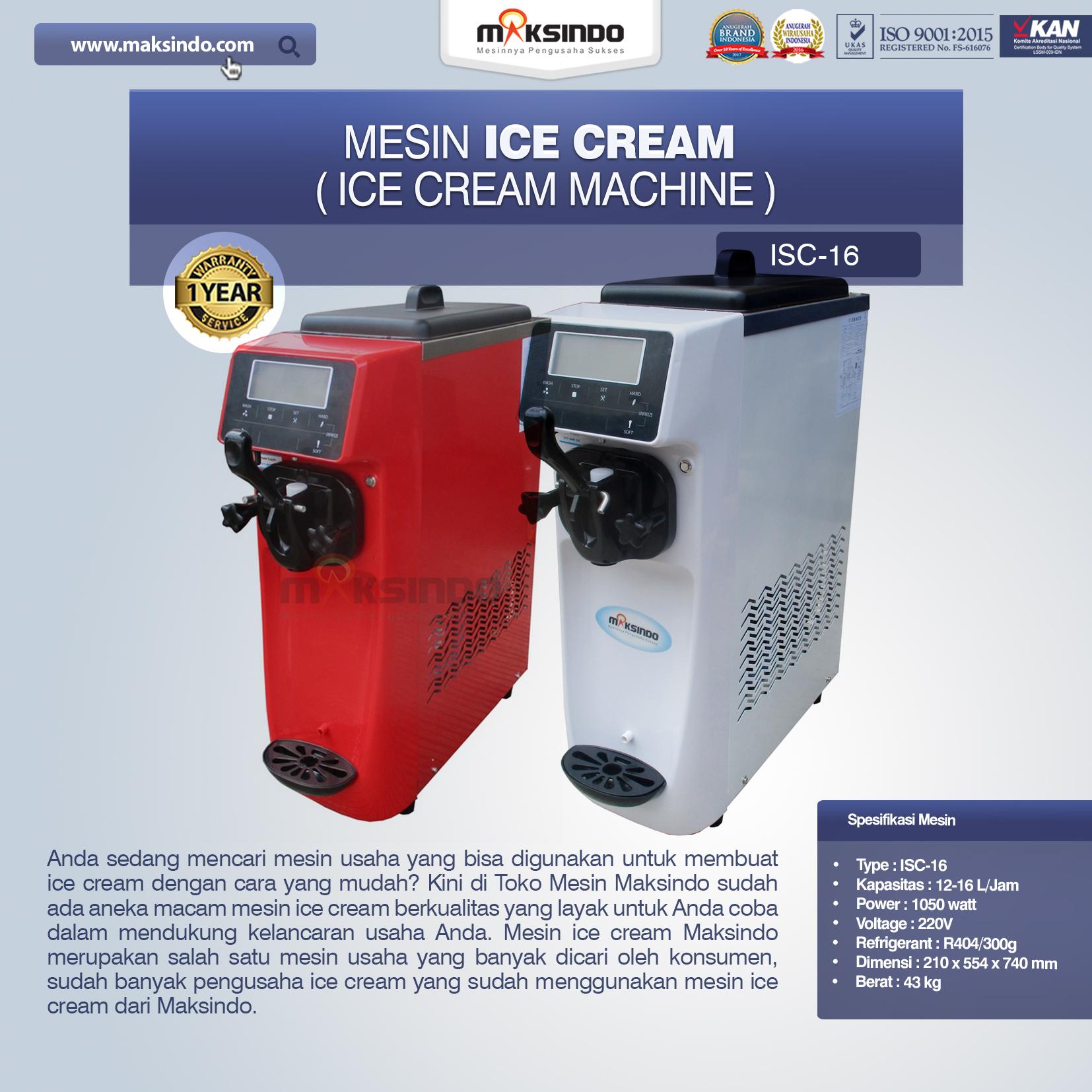 Jual Mesin Es Krim (Ice Cream Machine) ISC-16 di Bali