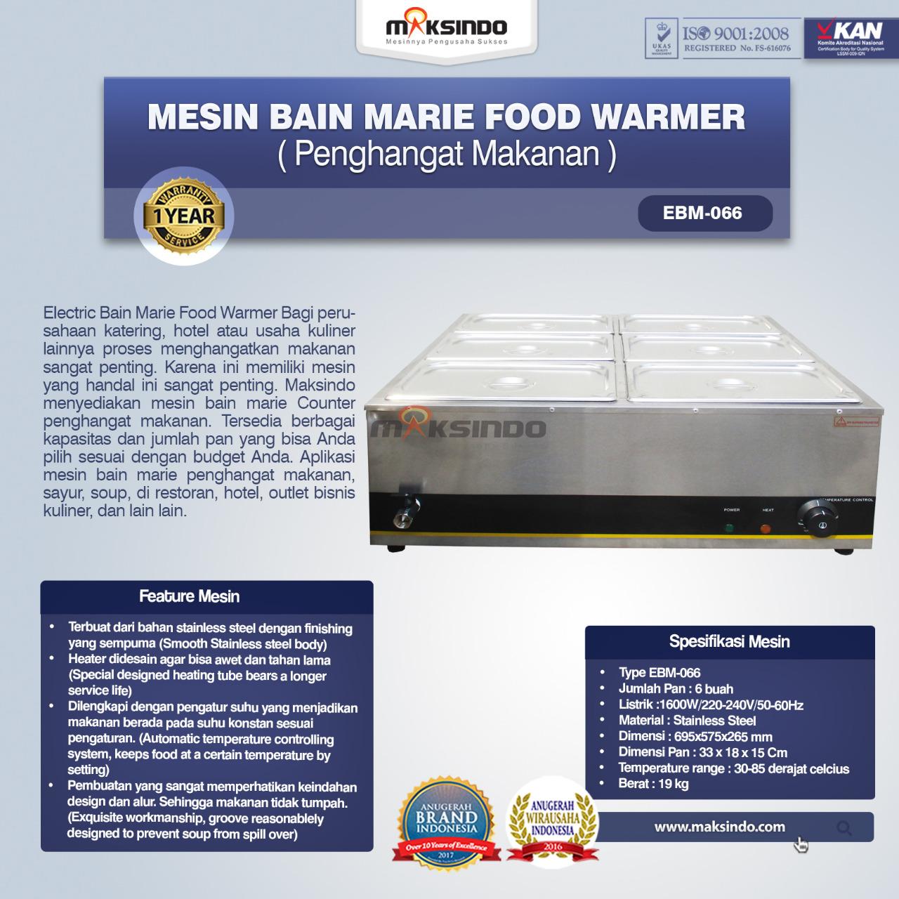 Jual Mesin Bain Marie Penghangat Makanan (EBM Type) di Bali