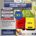 Jual Mesin Sosis Telur 4 Lubang Grillo-400 di Bali