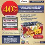 Jual Mesin Egg Roll Gas 2in1 Plus Fryer ERG007 Maksindo di Bali
