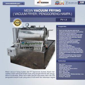 Jual Mesin Vacuum Frying 1,5 kg di Denpasar, Bali