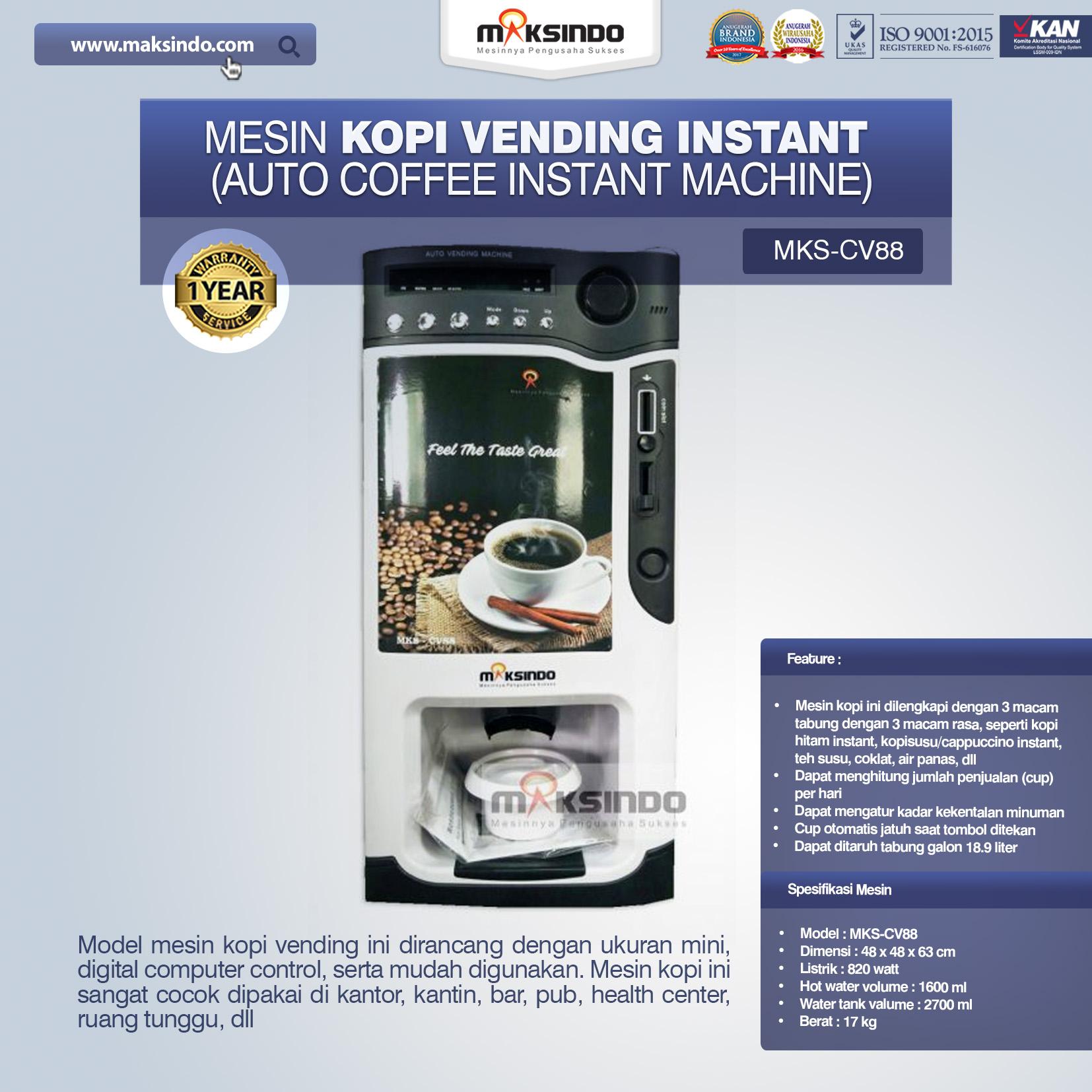 Jual Mesin Pembuat Kopi Instant (Coffee Vending) di Bali