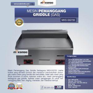 Jual Mesin Pemanggang Griddle (Gas) – GG720 di Bali