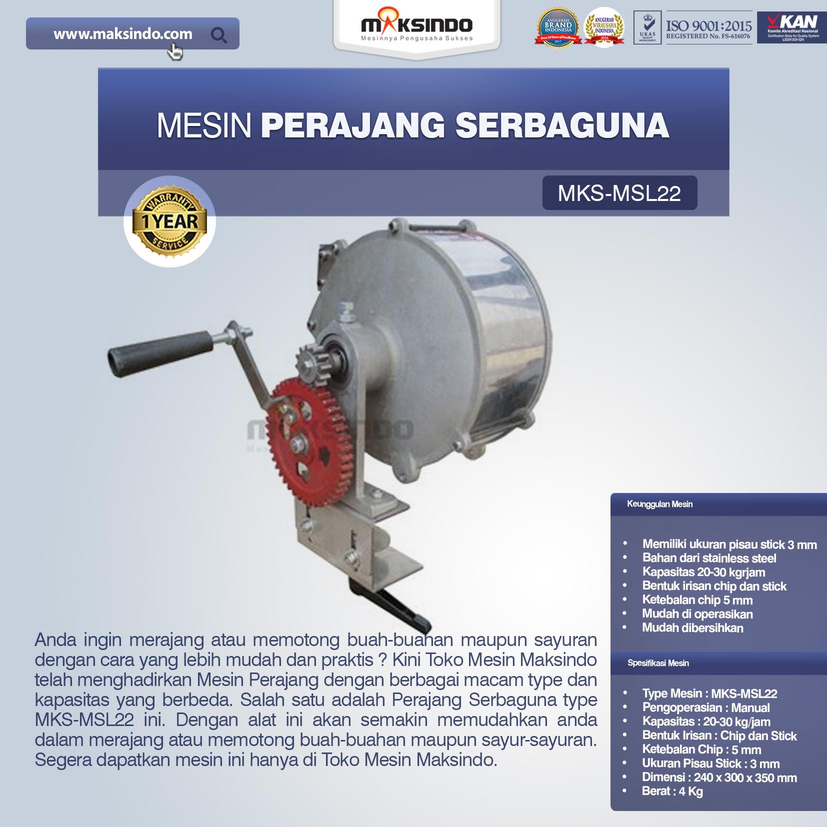 Jual Perajang Serbaguna MKS-MSL22 di Bali
